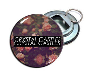 "Crystal Castles 2.25"" Metal Bottle Opener Keychain"