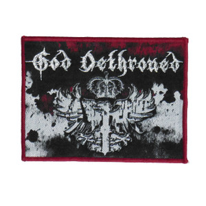 "God Dethroned - Crown 4x3.5"" WOVEN Patch"