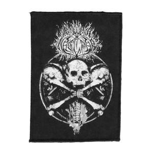"""Naglfar 3 Skulls 4x5"""" WOVEN Patch"""