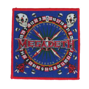 "Megadeth - Capitol Punishment 4x4"" WOVEN Patch"