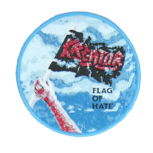 "Kreator - Flag Of Hate 4x4"" WOVEN Patch"