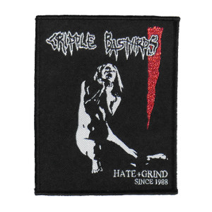 "Cripple Bastard - Hate Grind 4x5"" WOVEN Patch"