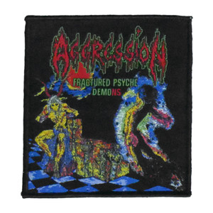 "Aggression - Fractured Psyche Demons 4x4"" WOVEN Patch"