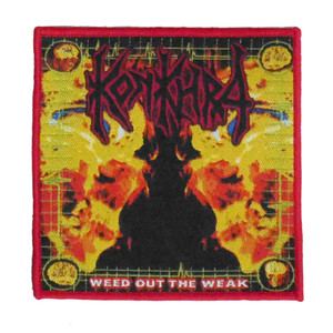 "Konkhra - Weed Out The Weak 4x4"" WOVEN Patch"