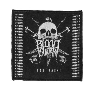 "Blood Tsunami - For Faen! 4x4"" WOVEN Patch"
