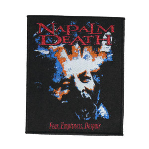 "Napalm Death - Fear, Emptiness, Despair 4x5"" WOVEN Patch"