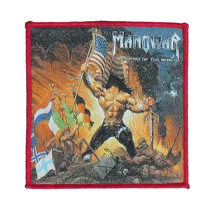"Manowar - Warriors of the World 4x4"" WOVEN Patch"