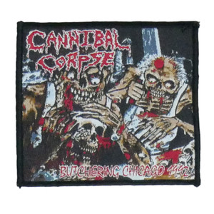 "Cannibal Corpse - Butchering Chicago 1992 4x4"" WOVEN Patch"