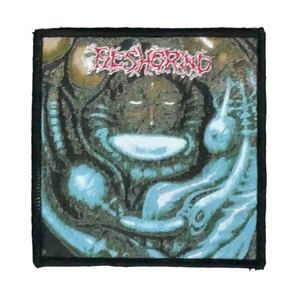 "Fleshgrind  - Destined For Defilement 4x4"" WOVEN Patch"