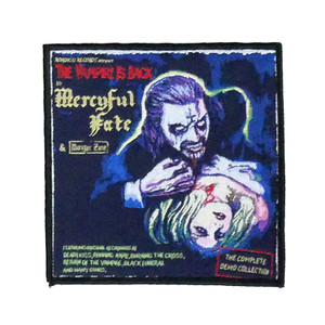 "Mercyful Fate - The Vampire Is Back 4x4"" WOVEN Patch"