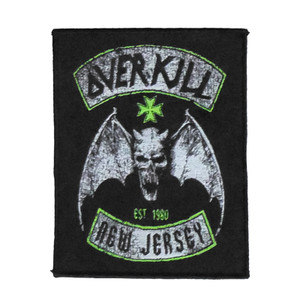 "Overkill - New Jersey 5X4"" WOVEN Patch"