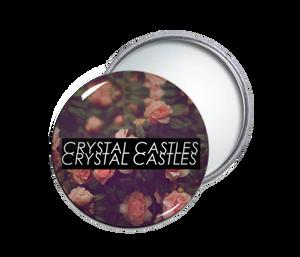 Crystal Castles - Flowers Round Pocket Mirror