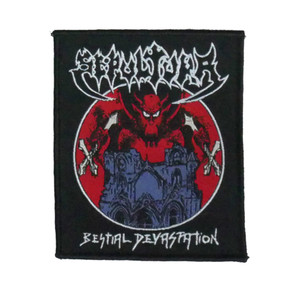 "Sepultura - Bestial Devastation 4x4"" WOVEN Patch"