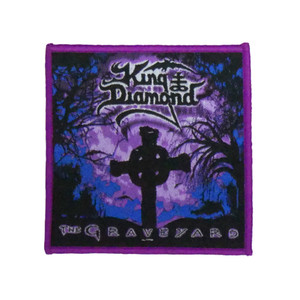 "King Diamond - The Graveyard 4x4"" WOVEN Patch"