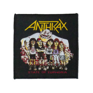 "Anthrax - State Of Euphoria 4x4"" WOVEN Patch"