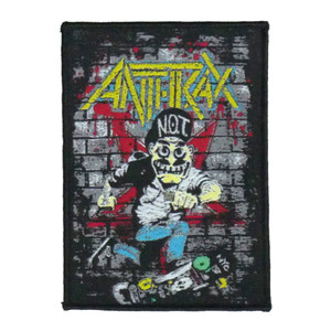 "Anthrax - Not Man 5X4"" WOVEN Patch"