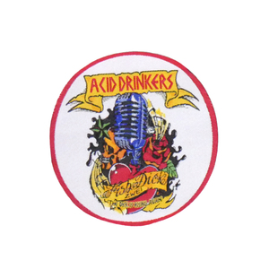 "Acid Drinkers - Fishdick Zwei 4x4"" WOVEN Patch"