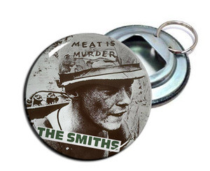 "The Smiths - Meat Is Murder 2.25"" Metal Bottle Opener Keychain"