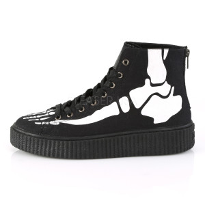Ankle High Platform Sneakers with Skeleton Foot