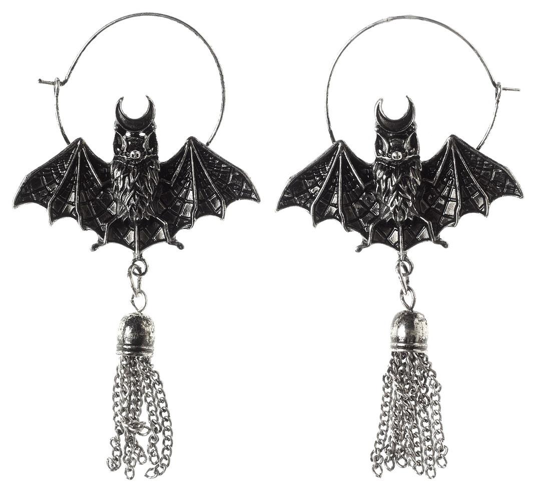 7e8c0eb99 ... Restyle Clothing - Oriental Bat Silver Earrings. Image 1