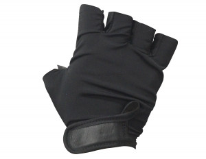 Padded Fingerless Leather Gym Gloves