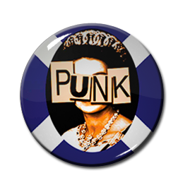 "Queen Elizabeth Punk 1"" Pin"