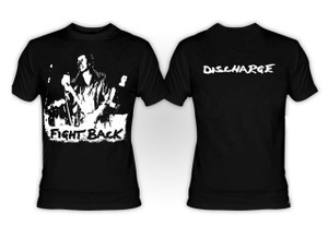Discharge - Fight Back Oversized Print T-Shirt