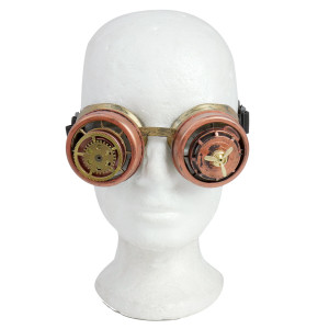 Steampunk Goggles with Propeller and Gears
