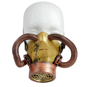 Respirator - Steampunk Bronze Tubes