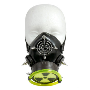 Black Respirator with Grate and Nuclear UV Sign