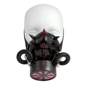 Black Respirator with Spikes