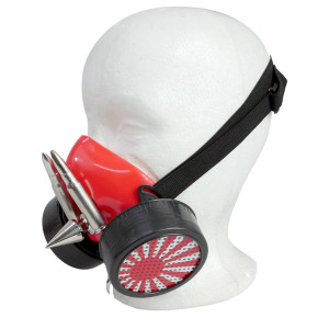 Red Respirator with The Red Sun and Spikes