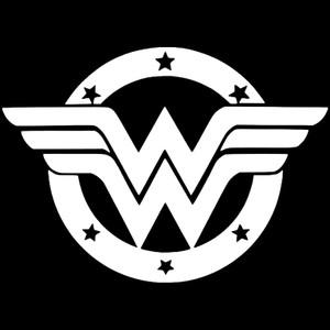 "Wonder Woman Logo 3.5x3.5"" Printed Sticker"