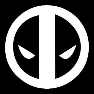 "Deadpool Logo 3.5x3.5"" Printed Sticker"
