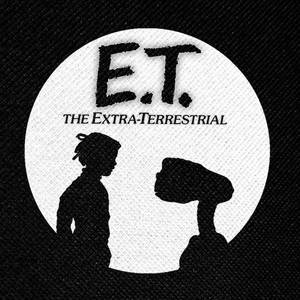 "E.T. The Extra Terrestrial - Gertie and E.T. 4x4"" Printed Patch"