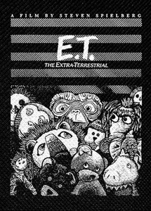 "E.T. The Extra Terrestrial E.T. in Plushies 4x4"" Printed Patch"
