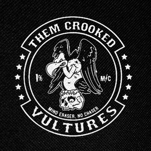 "Them Crooked Vultures Mind Eraser, No Chaser 4x4"" Printed Patch"