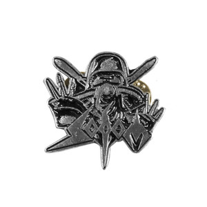 "Sodom - Gas Mask 4x4"" Metal Badge Pin"