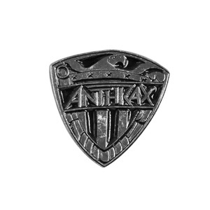 "Anthrax - Shield 4x4"" Metal Badge Pin"