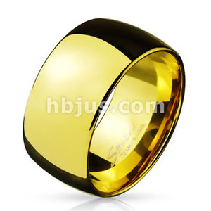 Wide Dome Stainless Steel Band