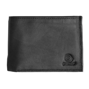Men's Bi Fold Black Leather Wallet