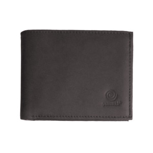 Men's Bi Fold Brown Leather Wallet w/ Zipper