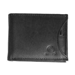 Men's Bi Fold Black Multi-Pocket Leather Wallet