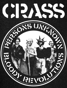 """Crass - Persons Unknown 12x10"""" Backpatch"""