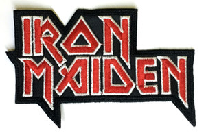 """Iron Maiden Logo 3x4.5"""" Embroidered Patch"""