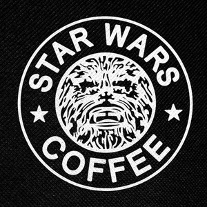 "Star Wars Coffee 4x4"" Printed Patch"