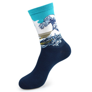 The Great Wave off Kanagawa Socks