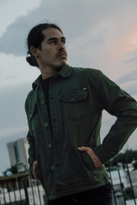 Antifashion - Olive Green Denim Jacket