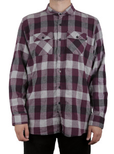 Purple Sleeve Flannel Shirt