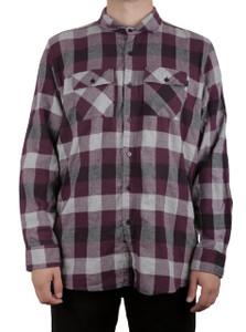 Purple Sleeve Flannel Shirt